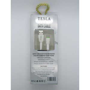 Data Cable Tesla micro-USB (white)