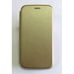 Чехол-книжка ориг кожа Samsung A5 2019/A505 (gold)