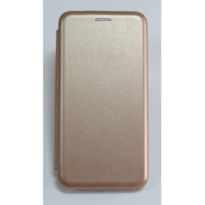 Чехол-книжка ориг кожа Huawei Y5 2018 (rose-gold)