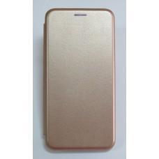 Чехол-книжка ориг кожа Huawei Y6 2018 (rose-gold)