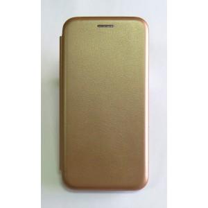 Чехол-книжка ориг кожа Xiaomi Redmi 4X (rose-gold)