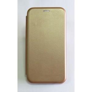 Чехол-книжка ориг кожа Xiaomi Redmi Note 4X (rose-gold)