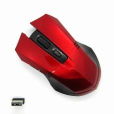 Мышка беспроводная Wireless с доп кноп (red)