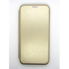 Чехол-книжка ориг кожа Huawei P20 Lite (gold)