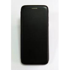 Чехол-книжка ориг кожа Samsung J6+ 2018 (black)