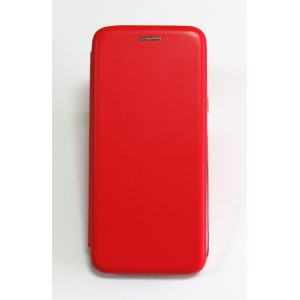 Чехол-книжка ориг кожа Samsung J6+ 2018 (red)