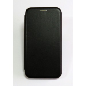 Чехол-книжка ориг кожа Samsung J4+ 2018 (black)