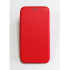 Чехол-книжка ориг кожа Samsung J4+ 2018 (red)