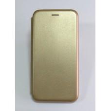 Чехол-книжка ориг кожа Xiaomi Redmi Note 6 PRO (gold)