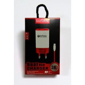 СЗУ блочек+кабель Infinix (red)