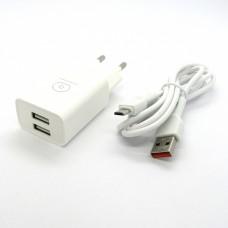 СЗУ WUW T38 блочек+кабель micro-USB (white)