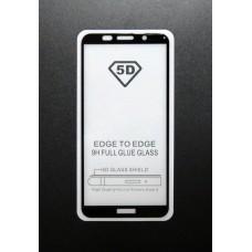 Стекло Huawei Y5 2018 5D (black)