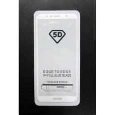 Стекло Huawei Y6 2018 5D (white)
