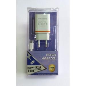 СЗУ блочек Smart Fast+кабель (white)