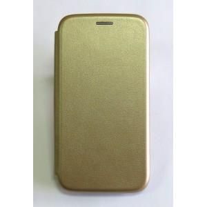 Чехол-книжка ориг кожа Huawei Y6 2019 (gold)