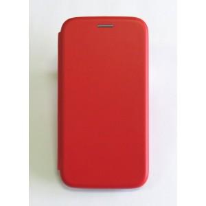 Чехол-книжка ориг кожа Samsung J320/J3 2016 (red)
