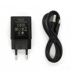 СЗУ Borofone + кабель Type-C BA52A (black)