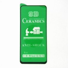 Стекло Ceramics Samsung A11 9D (black)
