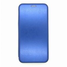 Чехол-книжка ориг кожа Huawei P40lite (blue)