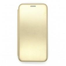 Чехол-книжка ориг кожа Huawei P40lite (gold)