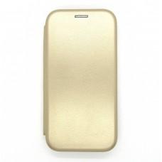 Чехол-книжка ориг кожа Huawei Y5P (gold)