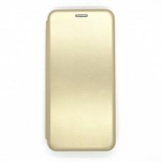 Чехол-книжка ориг кожа Xiaomi Redmi 9 (gold)