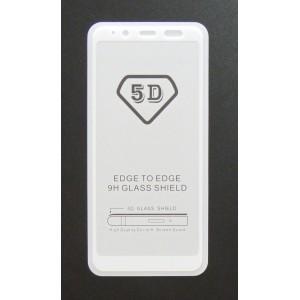 Стекло Samsung A6 2018 5D (white)