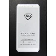 Стекло Samsung A7/A730 2018 5D (white)