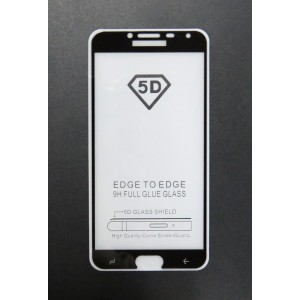 Стекло Samsung J4 2018 5D (black)