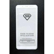 Стекло Xiaomi Redmi Note 5 PRO 5D (white)
