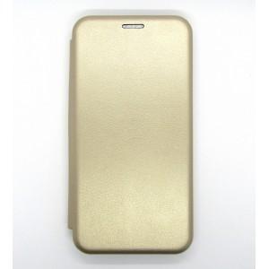 Чехол-книжка ориг кожа Xiaomi Redmi Note 8 (gold)