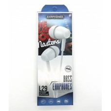 Hands Free Bass Earphones L29 (white)