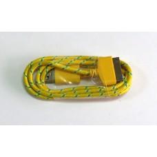 Data Cable iPhone 4 (цветной) ткань (yellow)