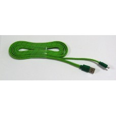 Data Cable micro-USB ткань 2м (green)