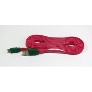 Data Cable micro-USB ткань 2м (red)