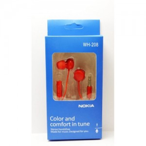 Hands Free оригинал Nokia WH-208 (red)