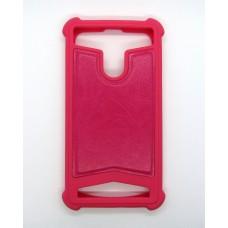 Чехол Универсальный кожа 5 (pink)
